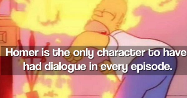 Collection of fun facts about the TV show The Simpsons.