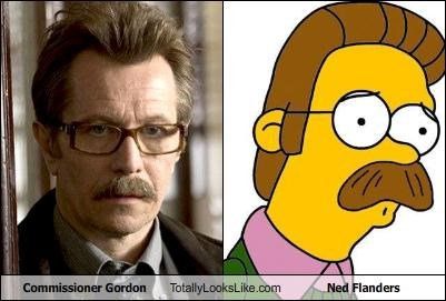 batman,commissioner gordon,Gary Oldman,ned flanders,the simpsons