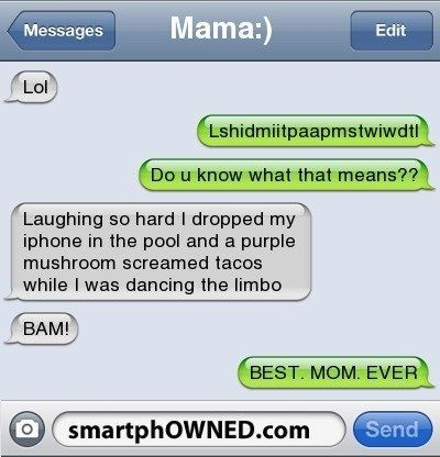 Picture of a text message conversation between mother and kid - Cover picture for list of 15 text message conversation where mothers just nailed it.