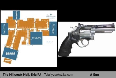 The Millcreek Mall Erie Pa Totally Looks Like A Gun Cheezburger