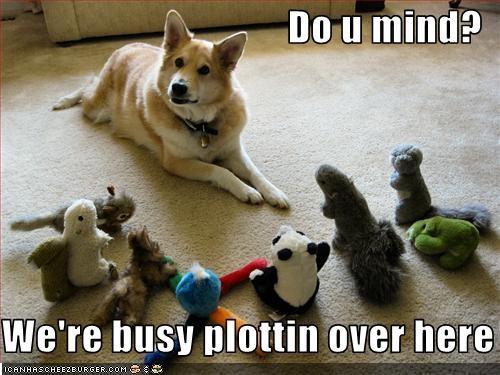 akita army evil friends plotting stuffed animal suspicious toys - 2169895168