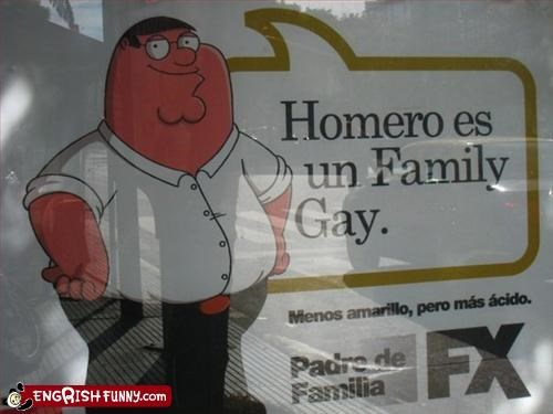 animation family guy gay spanish TV - 2172427520
