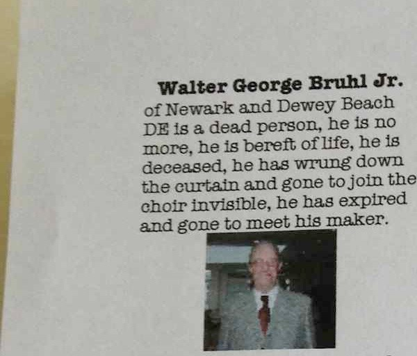 random act of kindness obituary BAMF g rated win