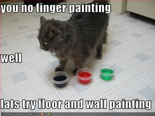 You No Finger Painting Well Lats Try Floor And Wall Painting
