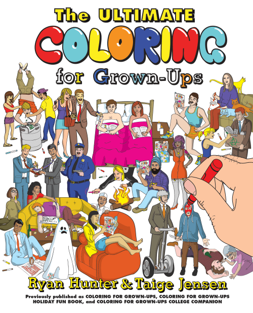 Funny coloring book for adults that mocks adult life really well.