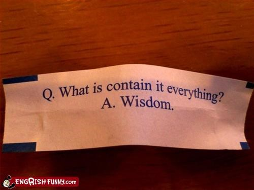 """Fortune Cookie Always Wrong!"""