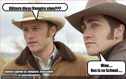 Glitzern diese Vampire etwa??? Wow..... Das is so Schwul...... English caption by Jedspard, translation by pwnedbykitteh