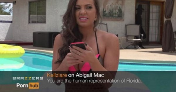Adult entertainment stars read off mean comments about themselves in cringe video.