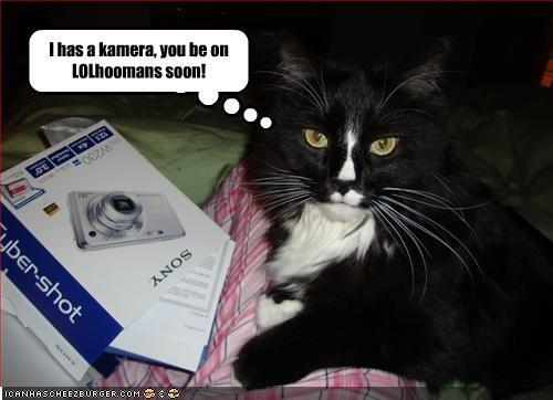 I has a kamera, you be on LOLhoomans soon!