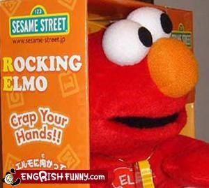 crap g rated hands kids tickle me elmo toys - 2194146048