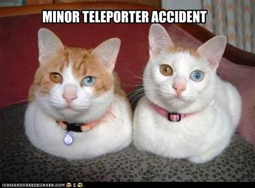 MINOR TELEPORTER ACCIDENT