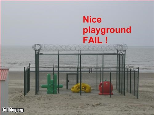 barbed wire beach g rated playground prison - 2197797120