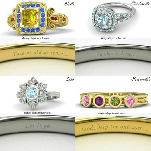 disney themed rings