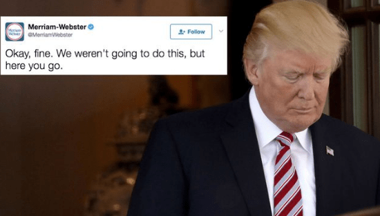 Donald Trump misspells 'counsel' and proceeds to get trolled by Merriam-Webster on Twitter.