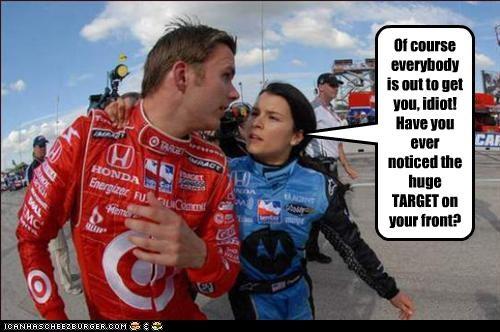 Danica Patrick driving indy car race cars scott dixon - 2205166336