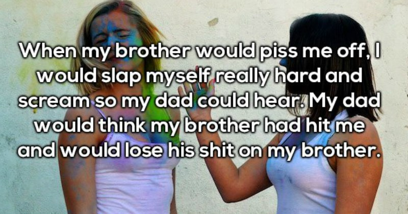 siblings describe the worst things they framed their siblings for
