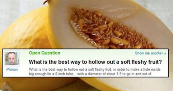 List of awkward Yahoo! questions about sex that'll make you give up on humanity because they're so dumb.