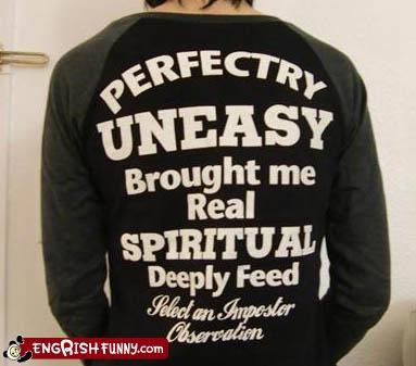 clothing deep feed imposter prefect spiritual T.Shirt uneasy - 2213554944