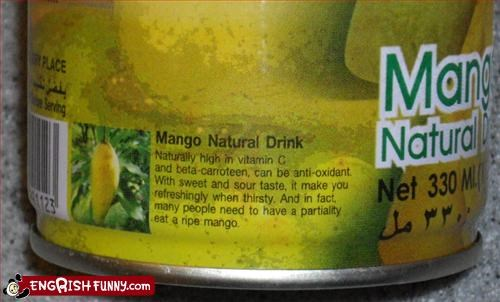 can drink g rated juice mango refreshing thirsty
