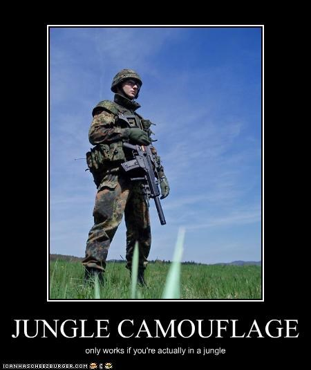 camouflage jungle military uniforms