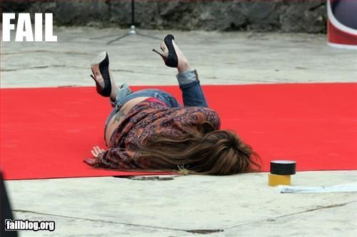 faceplant fall g rated high heels