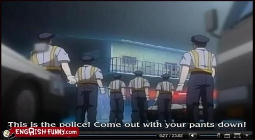 down pants police subtitles video games - 2227758336