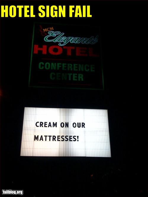 cream,hotel,mattress,signs