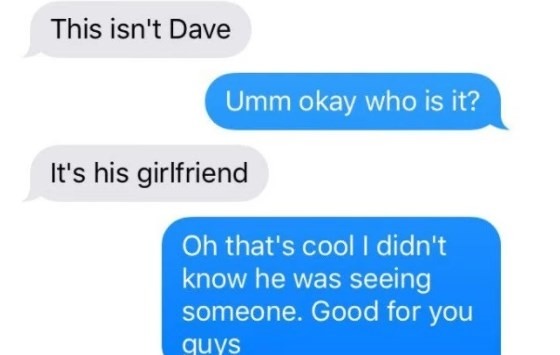 Guy tries to make another girl jealous through texting conversation by pretending that he has a girlfriend and it backfires.