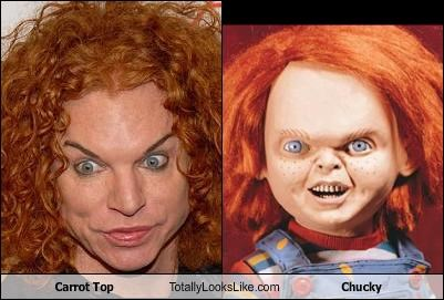 carrot top,childs play,Chucky,comedian