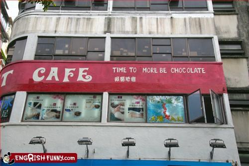 cafe chocolate g rated signs time - 2239104256