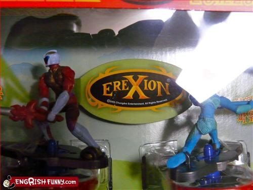 action figures erection packaging toys