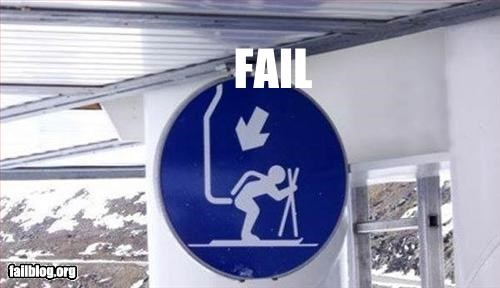 depiction failboat ouch signs ski lift - 2244148992