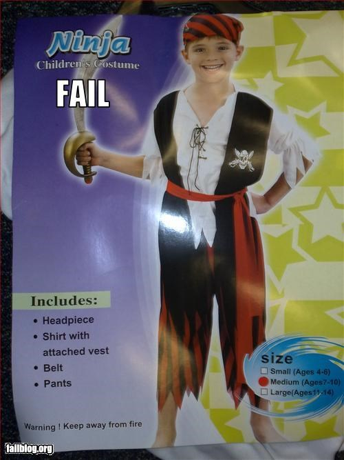 costume failboat g rated halloween kids ninjas pirates - 2244387584