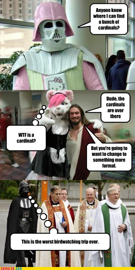 catholic,con,darth vader,hello kitty,religion,star wars