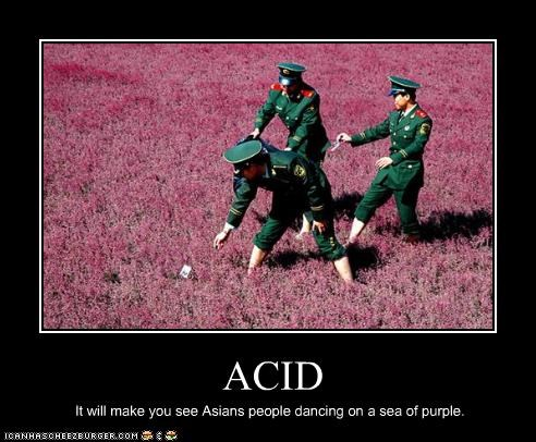 ACID It will make you see Asians people dancing on a sea of purple.