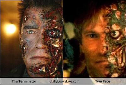 batman comics movies The Terminator two face