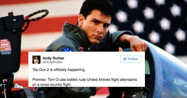 Tom Cruise confirms that there will be a Top Gun 2 sequel and the internet reacts with funny plot ideas on Twitter.