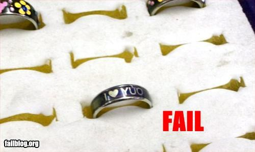 engraved failboat g rated Jewelry ring spelling - 2251292928