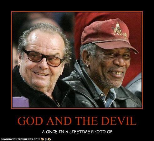 devil god jack nicholson Morgan Freeman Movie - 2251311872