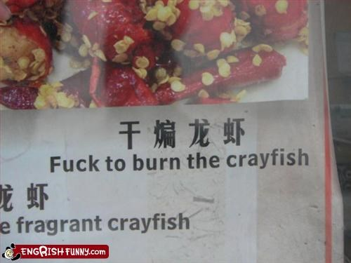 burn crayfish food menu - 2252417792