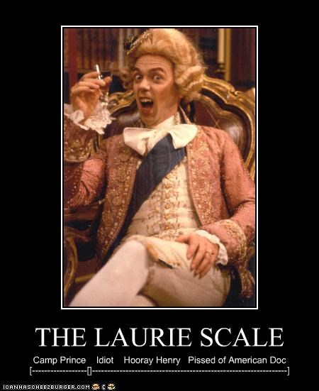 THE LAURIE SCALE Camp Prince Idiot Hooray Henry Pissed of American Doc [------------------[]----------------------------------------------------------------]