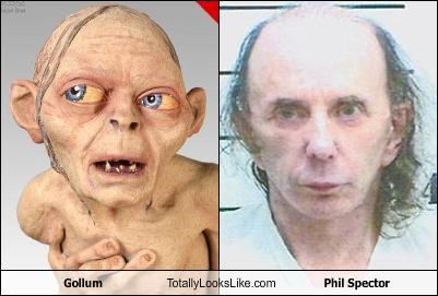 gollum jrr-tolkein Lord of the Rings movies mug shot Music Phil Spector
