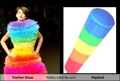 dress fashion food popsicle rainbow snack - 2256535808