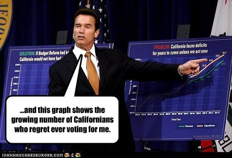Arnold Schwarzenegger,california,Economics,elections,Governor,regret,voting