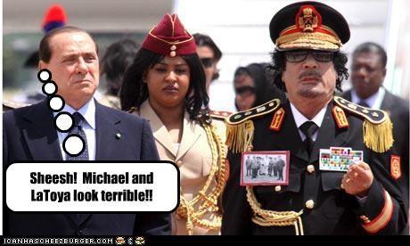 Italy libya michael jackson muammar al-gaddafi prime minister silvio berlusconi - 2256838400