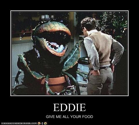 EDDIE GIVE ME ALL YOUR FOOD