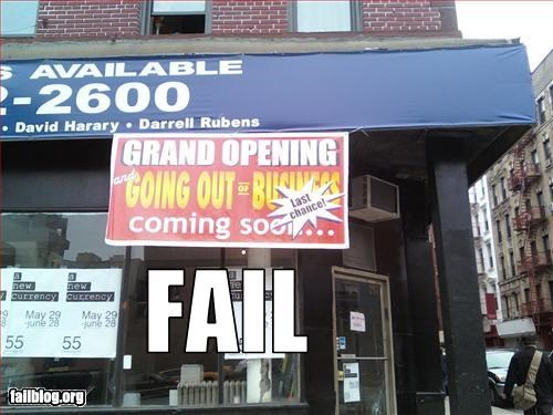 banner confusing failboat grand opening g rated out of business sign what - 2259857664