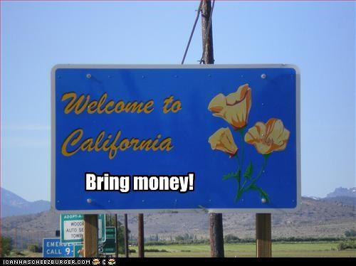 bail out broke california economy signs - 2261036288