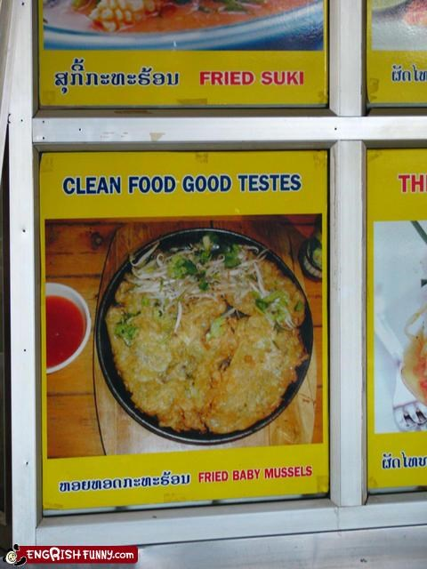clean food fried good mussels signs testes - 2261395712