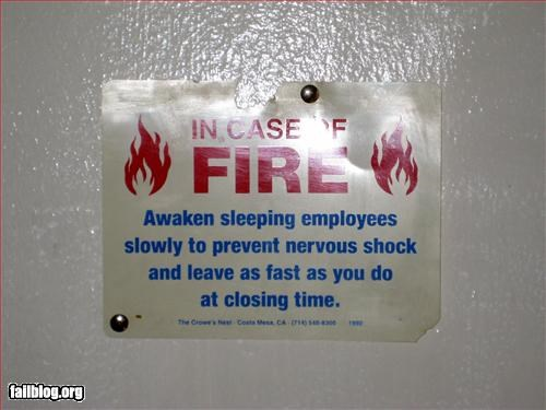 closed employees evacuation fast fire g rated signs sleeping wake warning - 2262278912